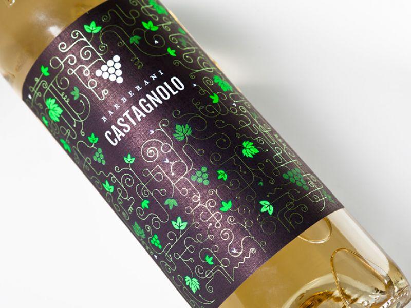 Текстурная этикетка на вино