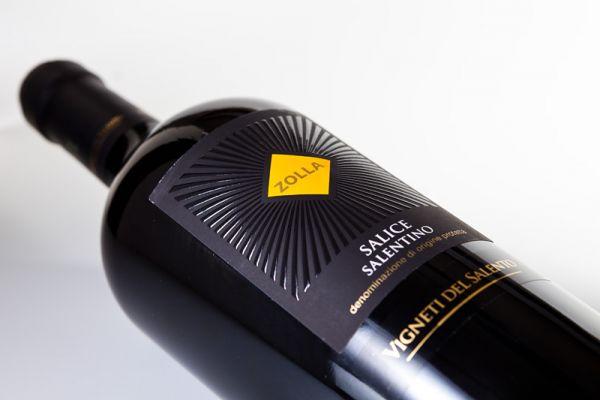 Флексо печать этикетка на бутылку вина