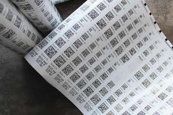 Напечатанные Data Matrix